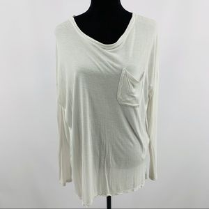 Abercrombie & Fitch High Low Tee with Bust Pocket